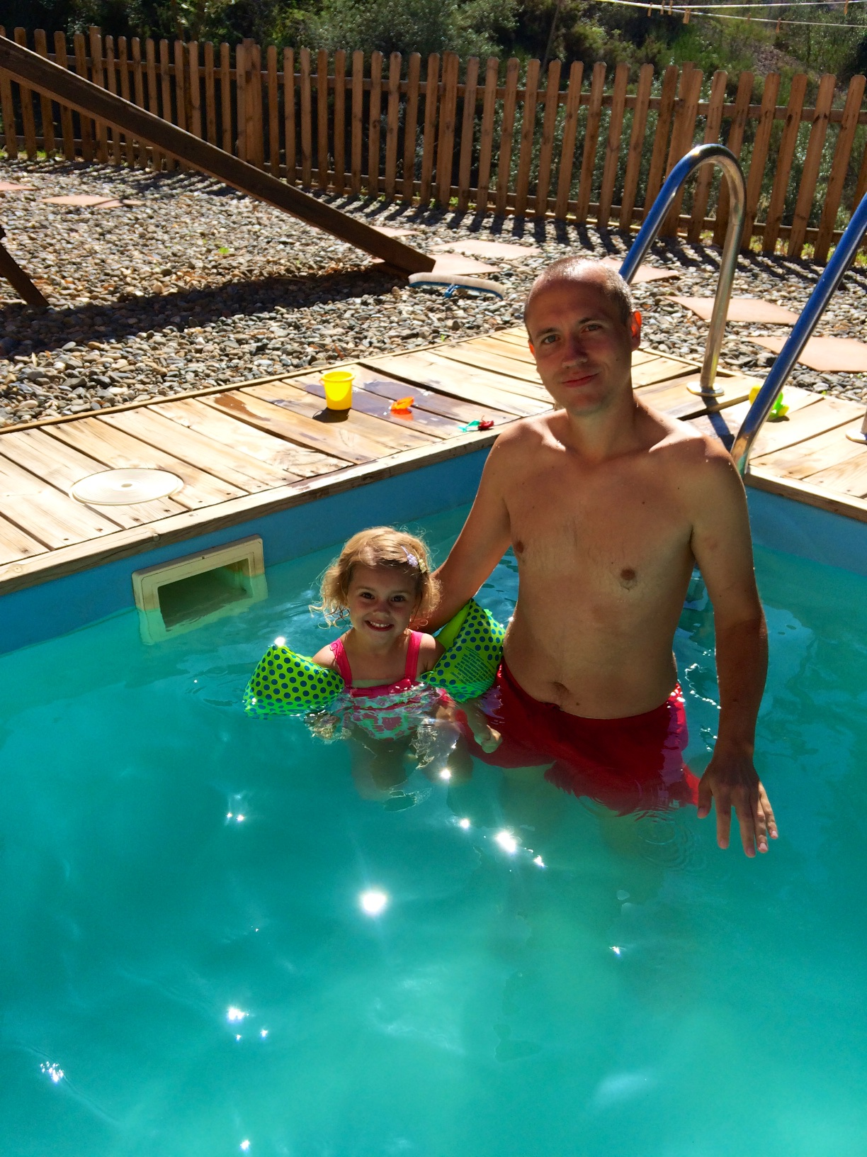 Swimming in October