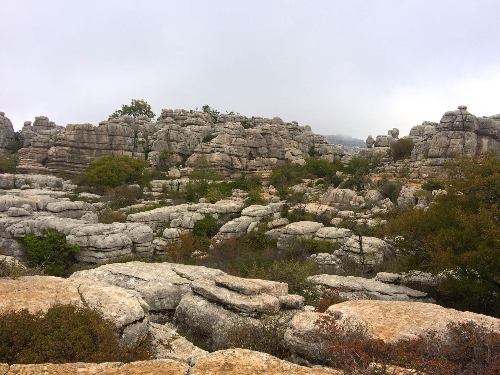 Hiking at El Torcal