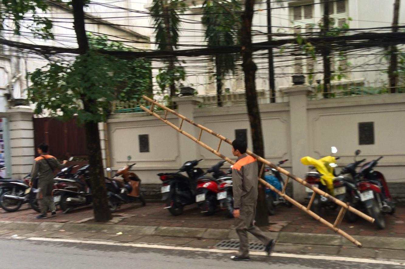 Walking through Streets of Hanoi