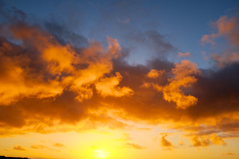 Sunset at Punakaiki Beach