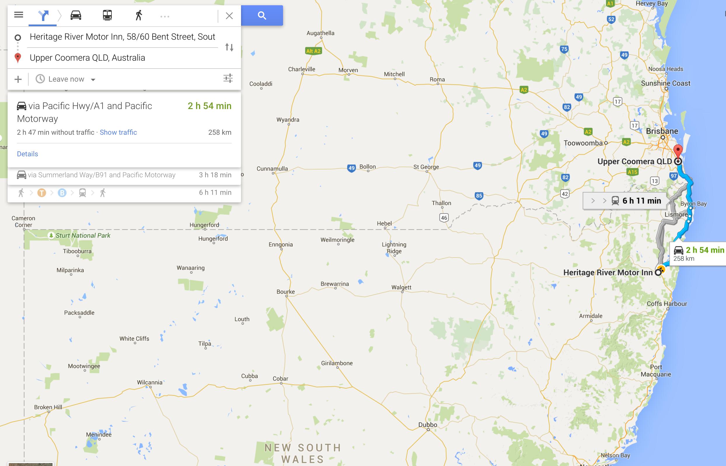 Australia Road Trip Day Two: Grafton to Gold Coast