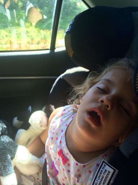 A very tired Hannah!