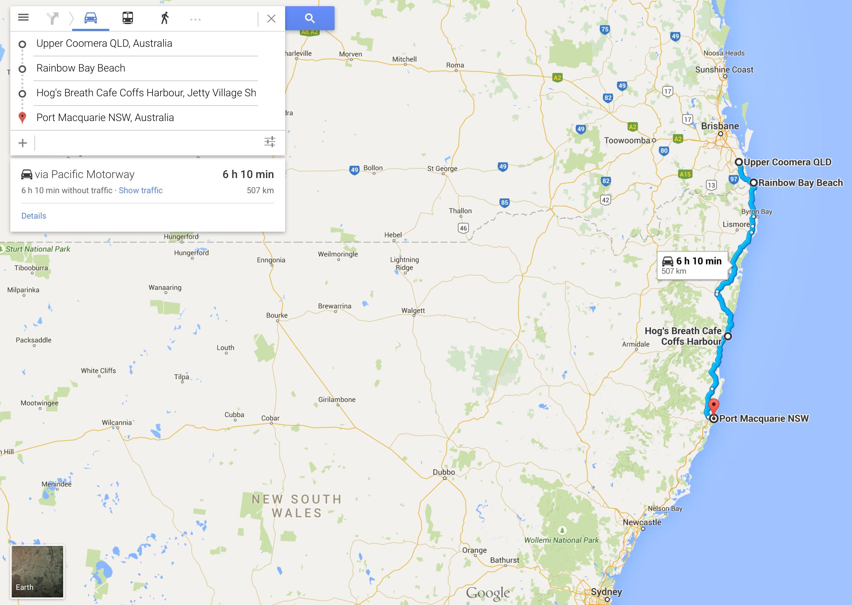 Australia Road Trip Day Three: Gold Coast to Port Macquarie