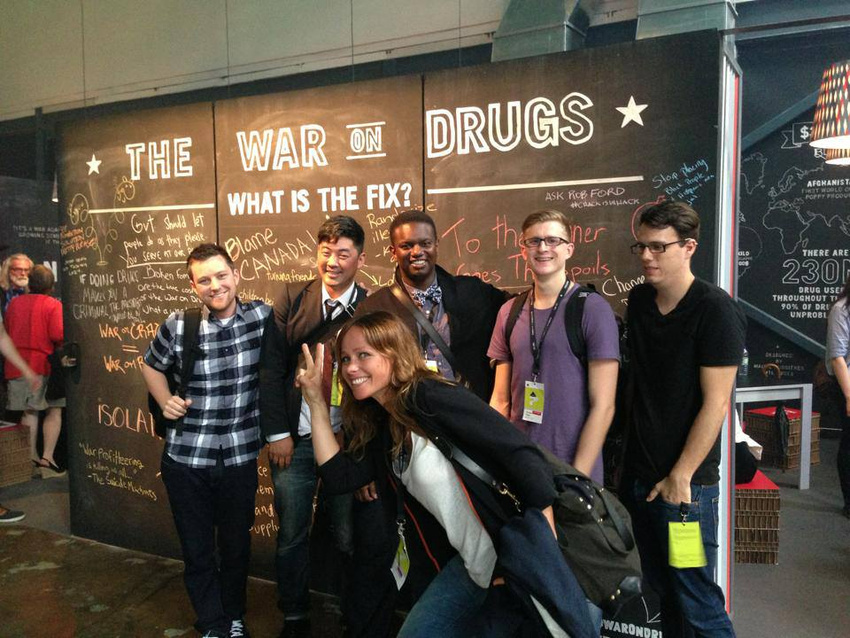 Young Glory winners at C2 Montreal in 2013, solving a brief set by Sir Richard Branson.