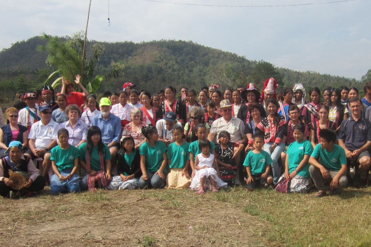 Here we see Ralph, Frank, Julie, Rhoda, Ross, Gay, Noel, Karen, August and other Aussies mixing with colourfully dressed Akha tribe people as well as children from our Ethnic Children's Home (in green). A mission trip is for everyone and can be lots of fun. Why just go on an ordinary tourist trip like so many people do? Why not come with us on a trip of purpose – and be inspired?