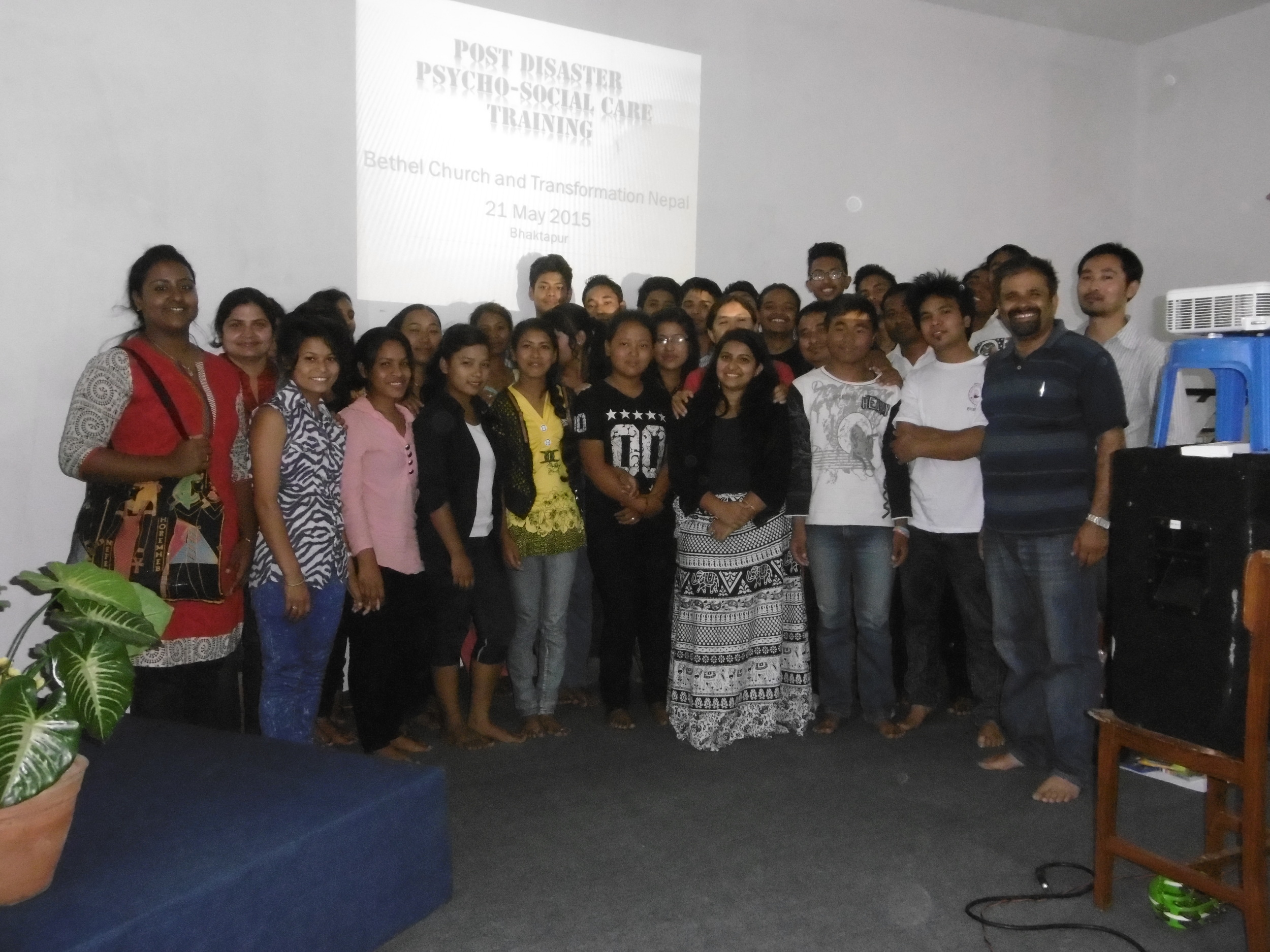 """Mukunda trains church teams for what they call """"Post Disaster Psycho-Social Care Training""""."""