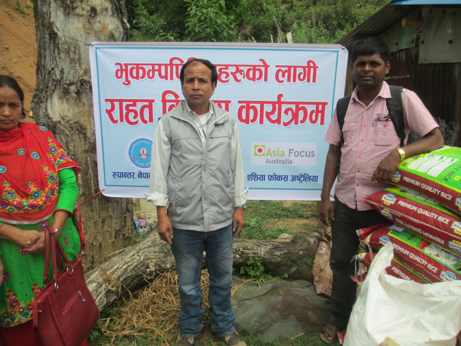AFA Food Distribution at Dolakha in the mountains