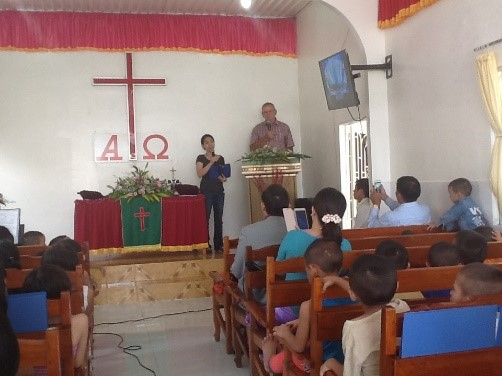 Preaching at the Orphanage Church
