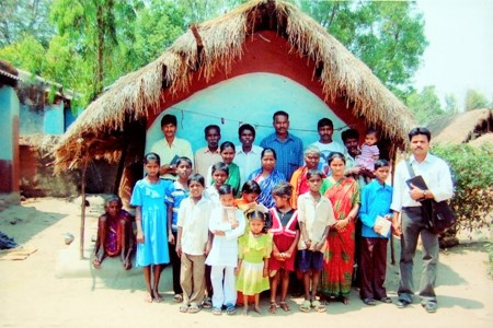 The Odisha Lutheran Mission Church in Santoshpur Village.