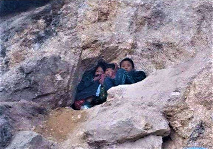 Three kids hiding in a cave in a mountain for days after escaping and hearing the gun fire of the approaching Burmese Army. Will they be still alive?