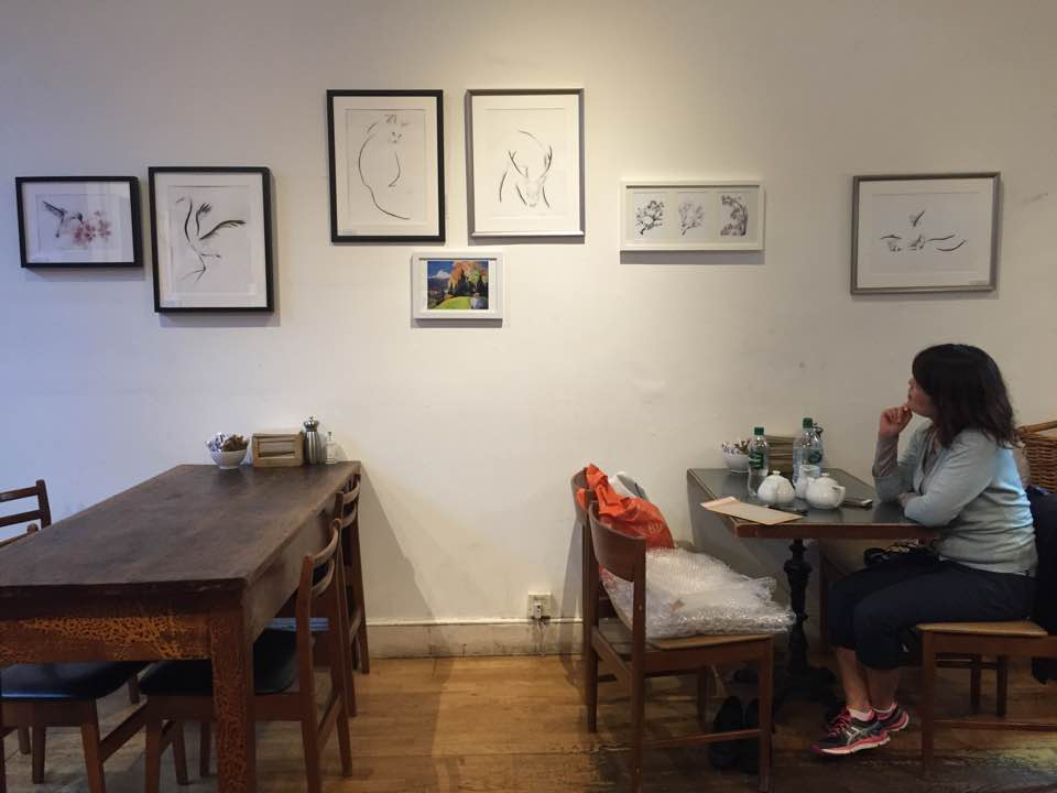 If you're in Edinburgh, stop by Relish on Commercial Street for a delicious sandwich and to see the artwork on display/for sale!