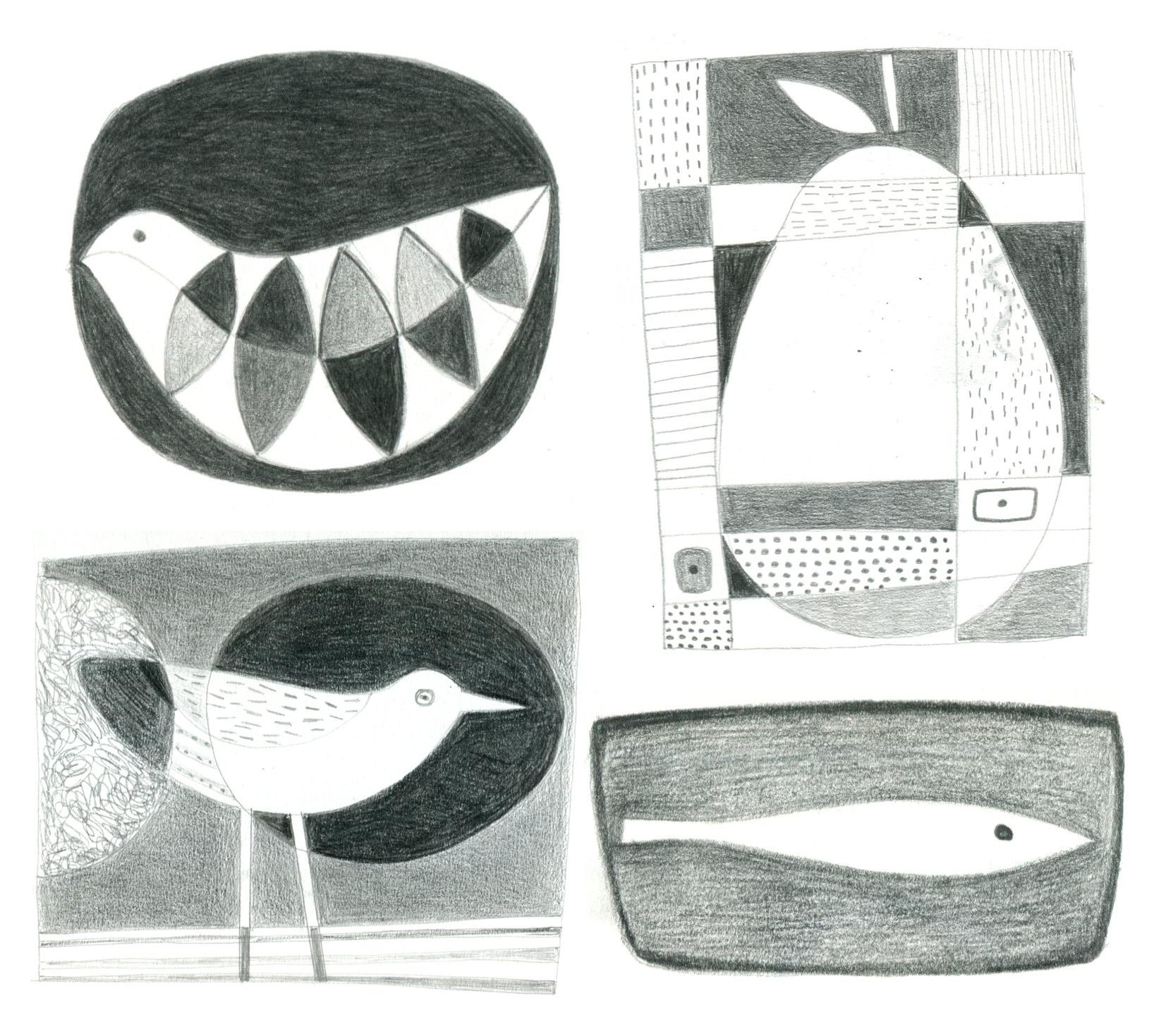 Drawings by Sarah Hamilton