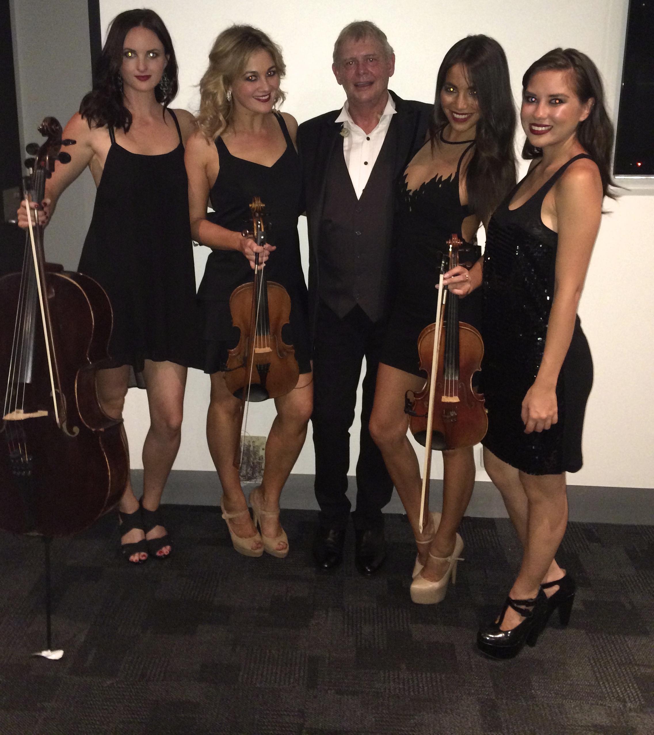 Airlie Koo's Australian Pop Quartet perform for the Lionel Richie/ John Farnham Tour