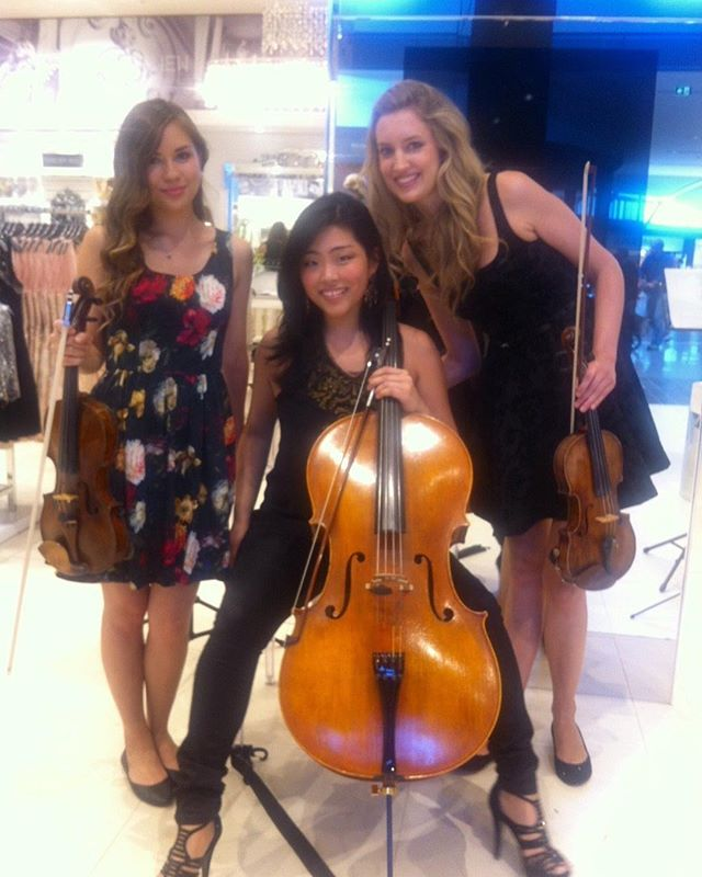 Flashing back to this gorgeous trio performance for @forevernew_official . . . . #stringtrio#acoustic#violin#viola#cello#melbournevents#sydneyevents#fashionevents#violinist#cellist#australianurbanorchestra