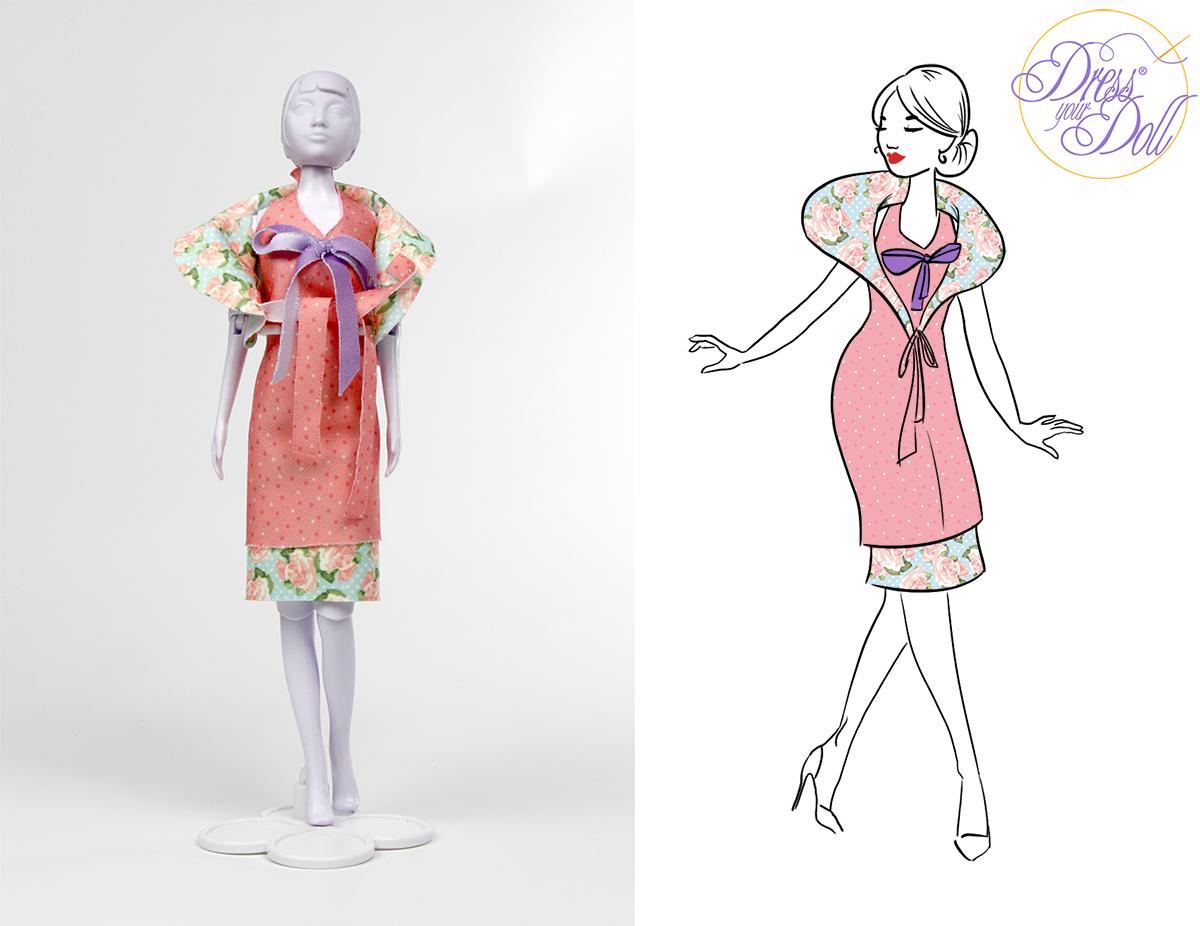 jurk voor pop te maken
