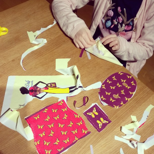 Keep going!! Almost everything is cut out! Then the fun part starts: sewing! Photo courtesy of @norppastiina