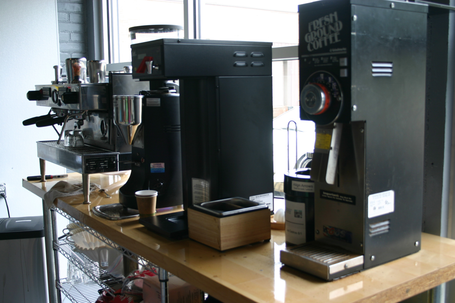 The DTCC coffee grind and brew station