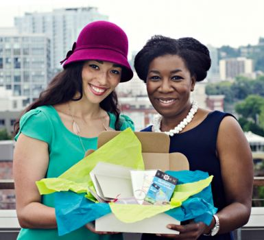 Paige and Inger of Tique Box