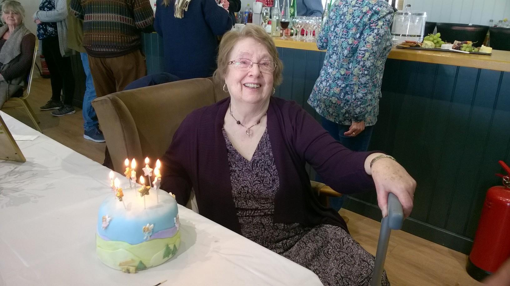 Jean celebrating her 80th Birthday