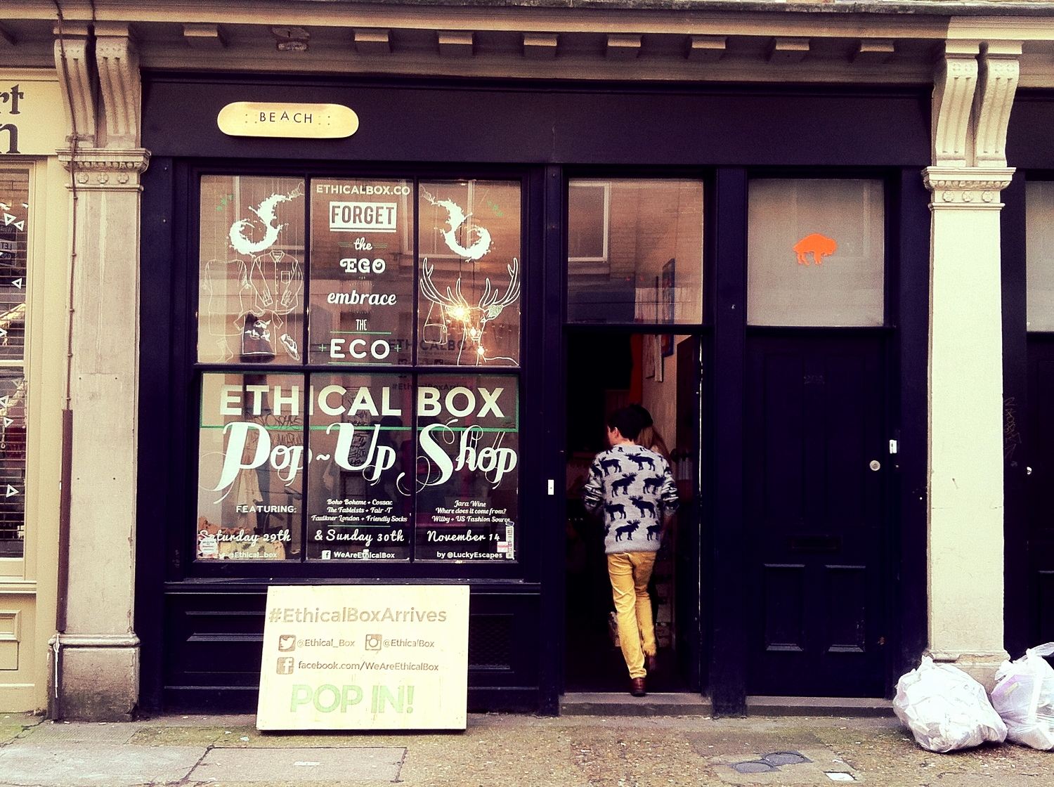 The Ethical Box Pop-up shop