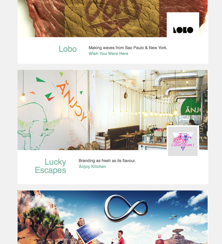 Creativepool newsletter feature