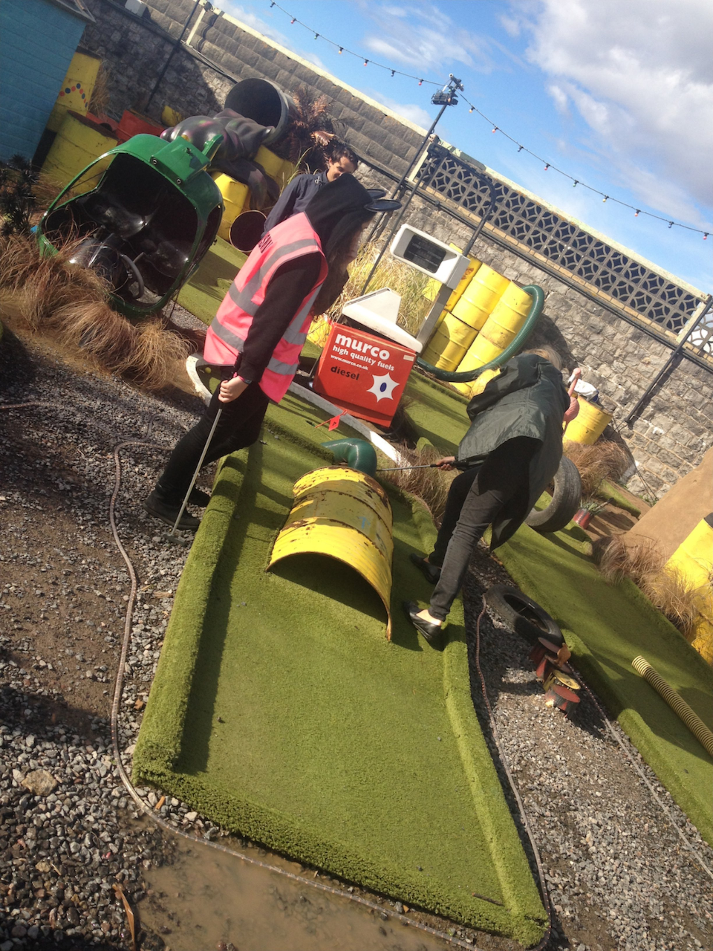 Toxic waste themed crazy golf