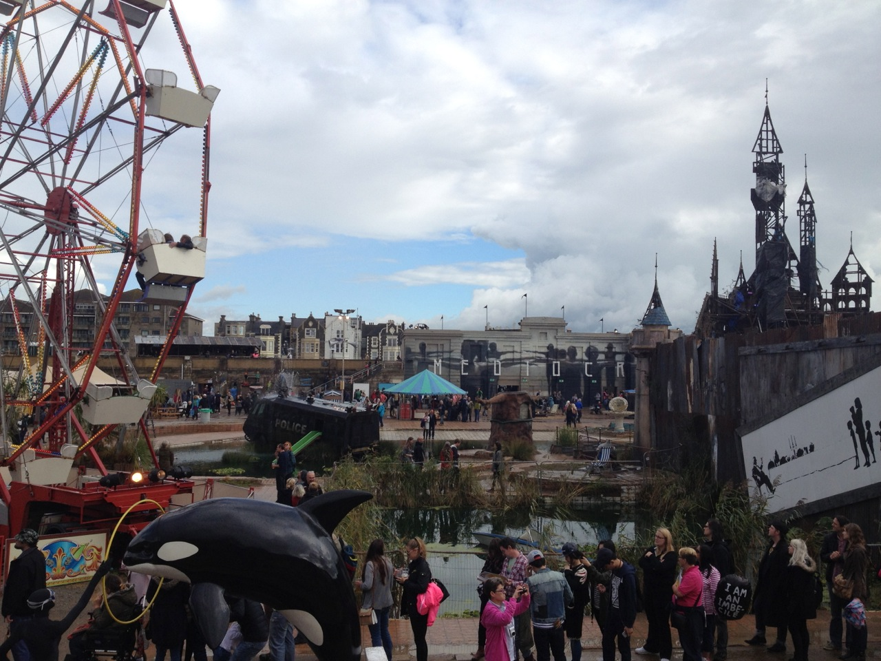 Dismaland from far end