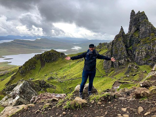 Thanks for the birthday scarf @powerrocket — it kept my neck toasty on the very chilly Storr mountain in Scotland!