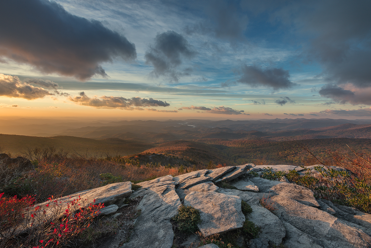 Morning on Rough Ridge, Blue Ridge Parkway, North Carolina