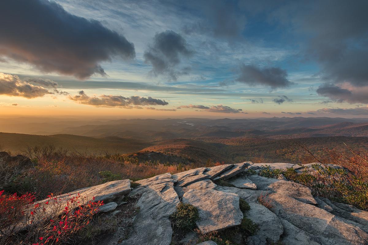 Morning on Rough Ridge, Blue Ridge Parkway, North Carolina