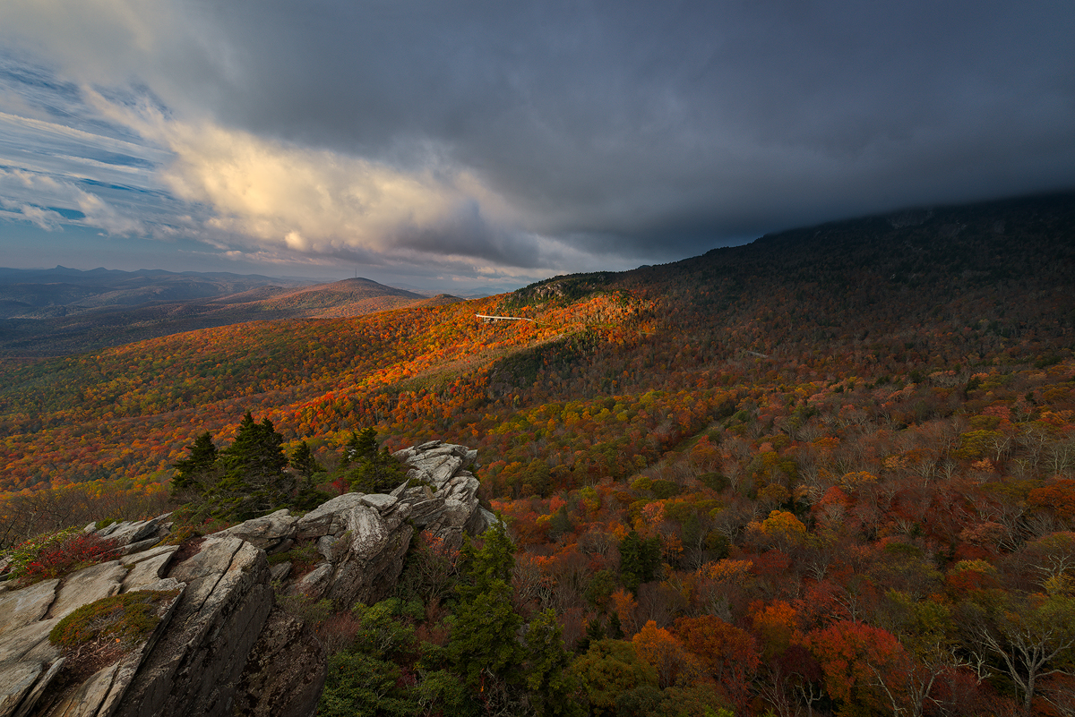 First Light on Rough Ridge, Blue Ridge Parkway, North Carolina