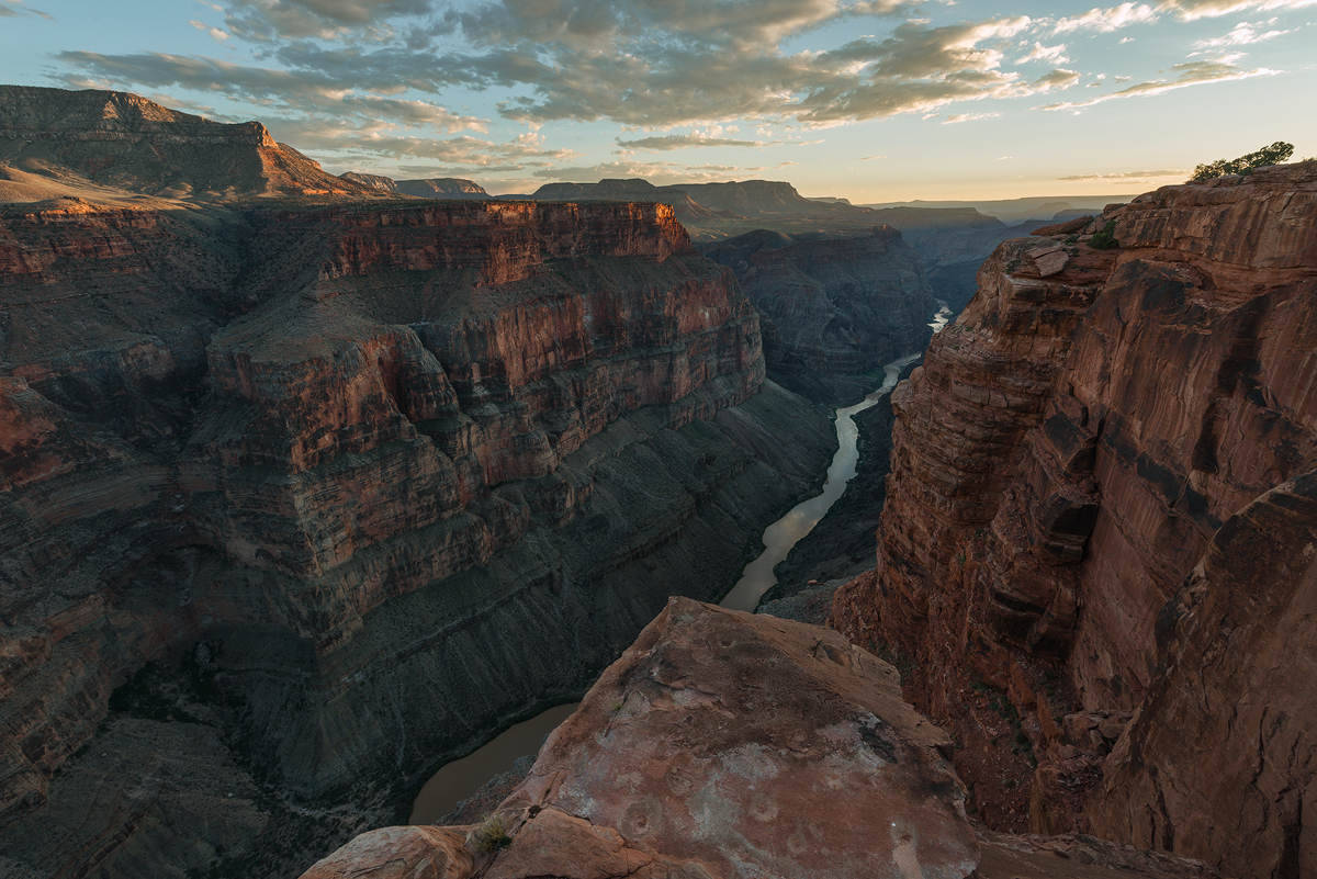 Last Light at Toroweap, North Rim of the Grand Canyon, Arizona