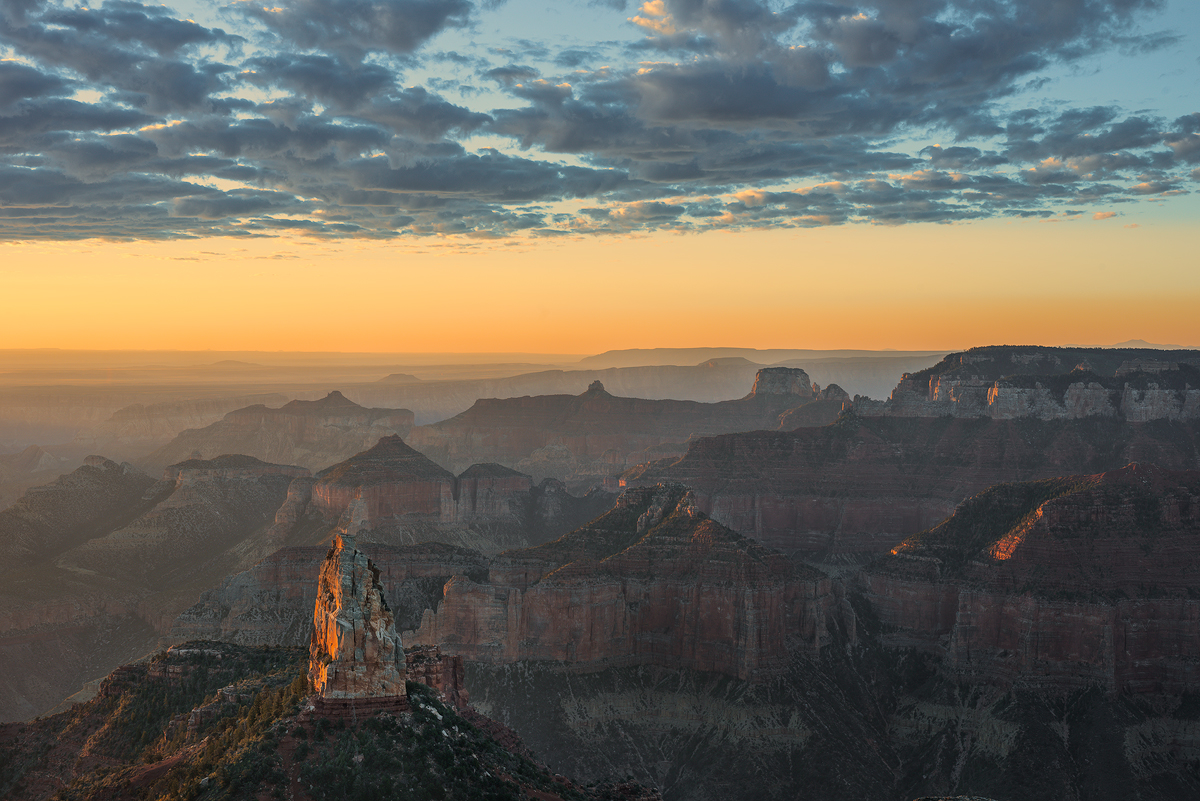 Morning Clouds over Mt. Hayden, North Rim of the Grand Canyon, Arizona