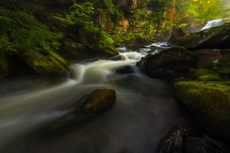 Morning Light at Muddy Creek, Slippery Rock, PA