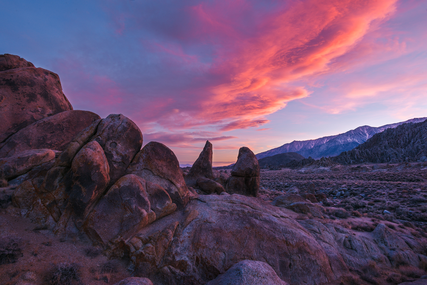 Twilight in the Hills. The Alabama Hills, CA