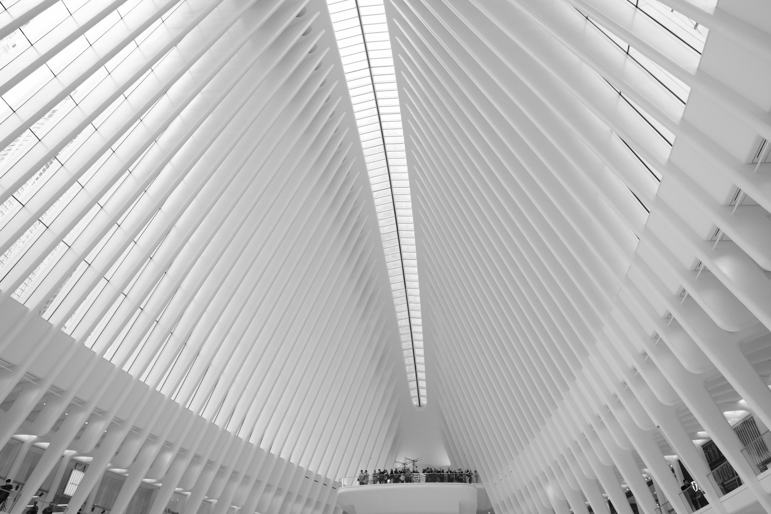 Inside the Oculus at The World Trade Center. SOOC, Acros NeoPan Film Emulation.