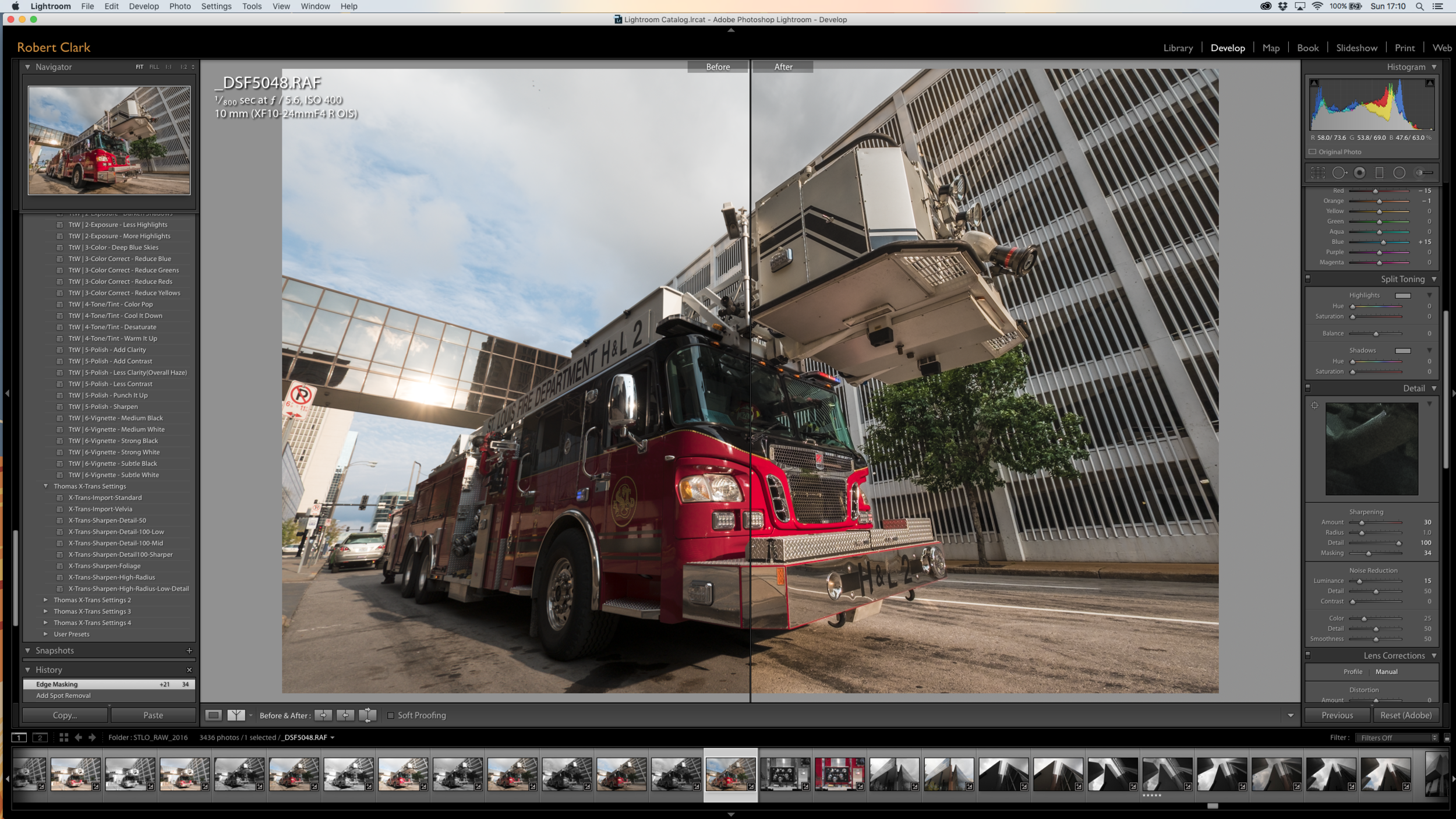 Split Screen: Before and After - Hook and Ladder