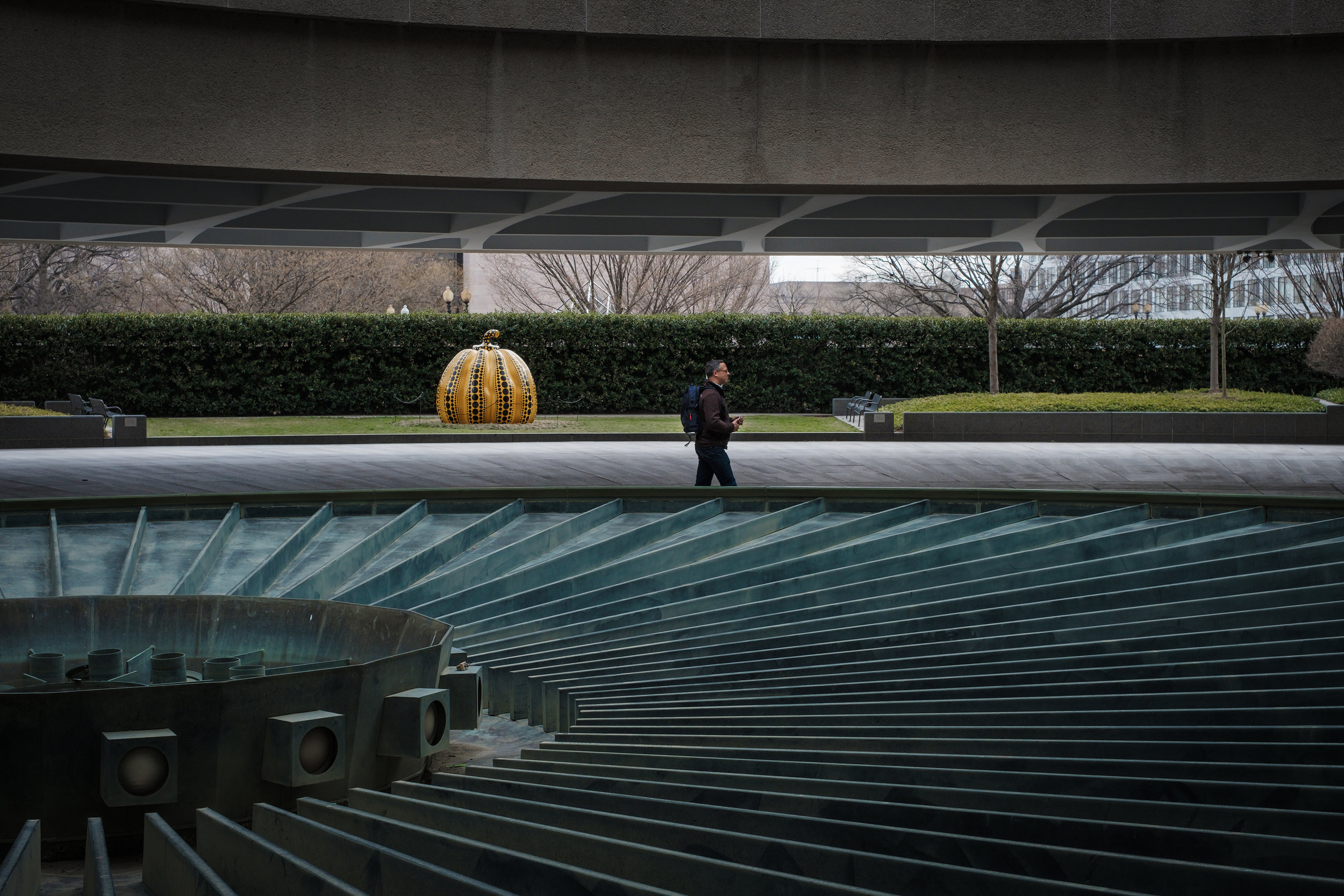Solitary Man  • Hirshhorn Museum, Washington DC.   Fuji X-H1 and a Fujinon XF35 f1.4   ISO 400, f5.6, 1/200 of a second.