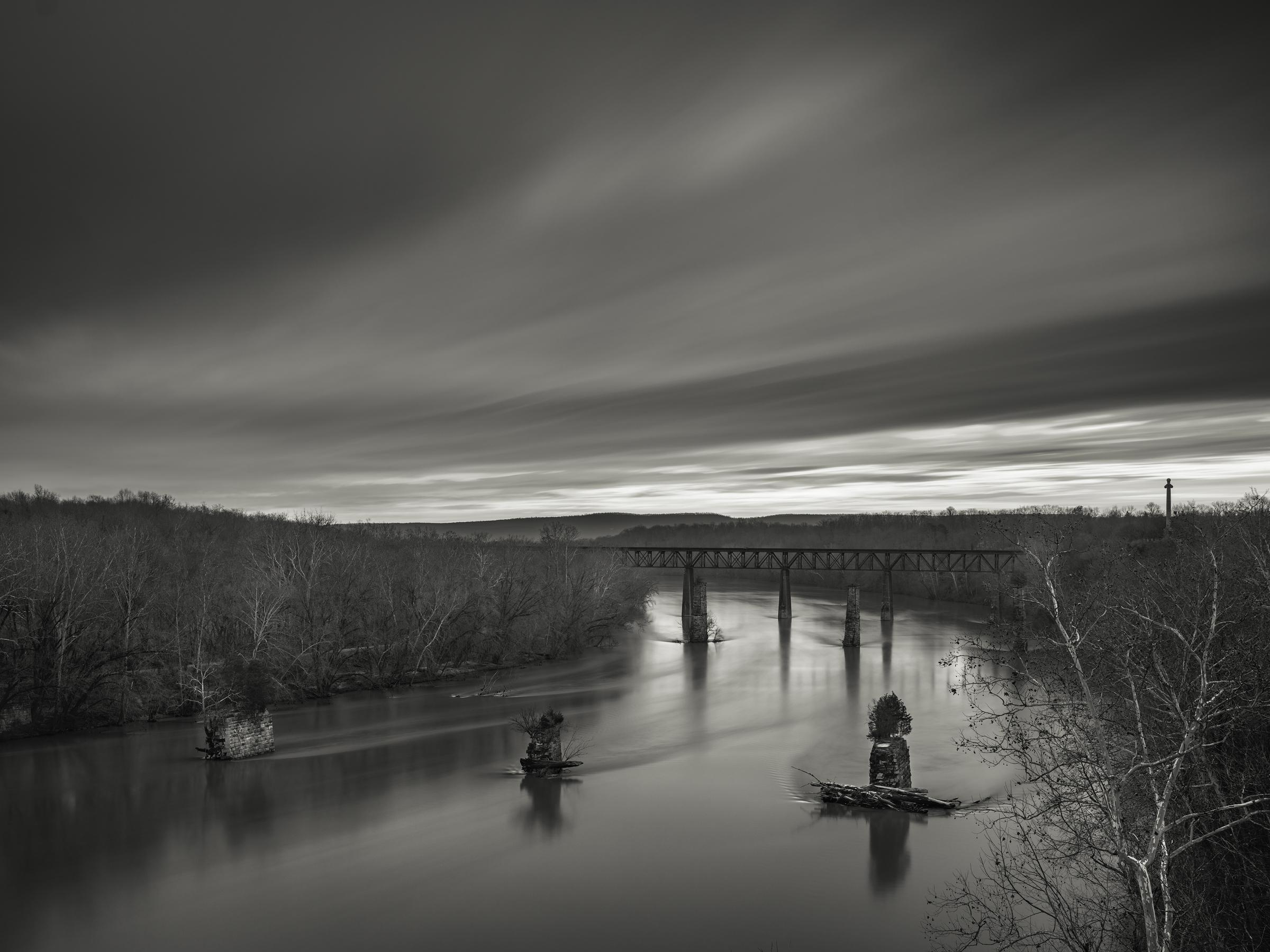 Sunrise on the Potomac, Shepherdstown, WV - Fuji GFX50s and a Fujinon GF32-64mm f4 R WR   ISO 100 at f11 for 240 seconds.