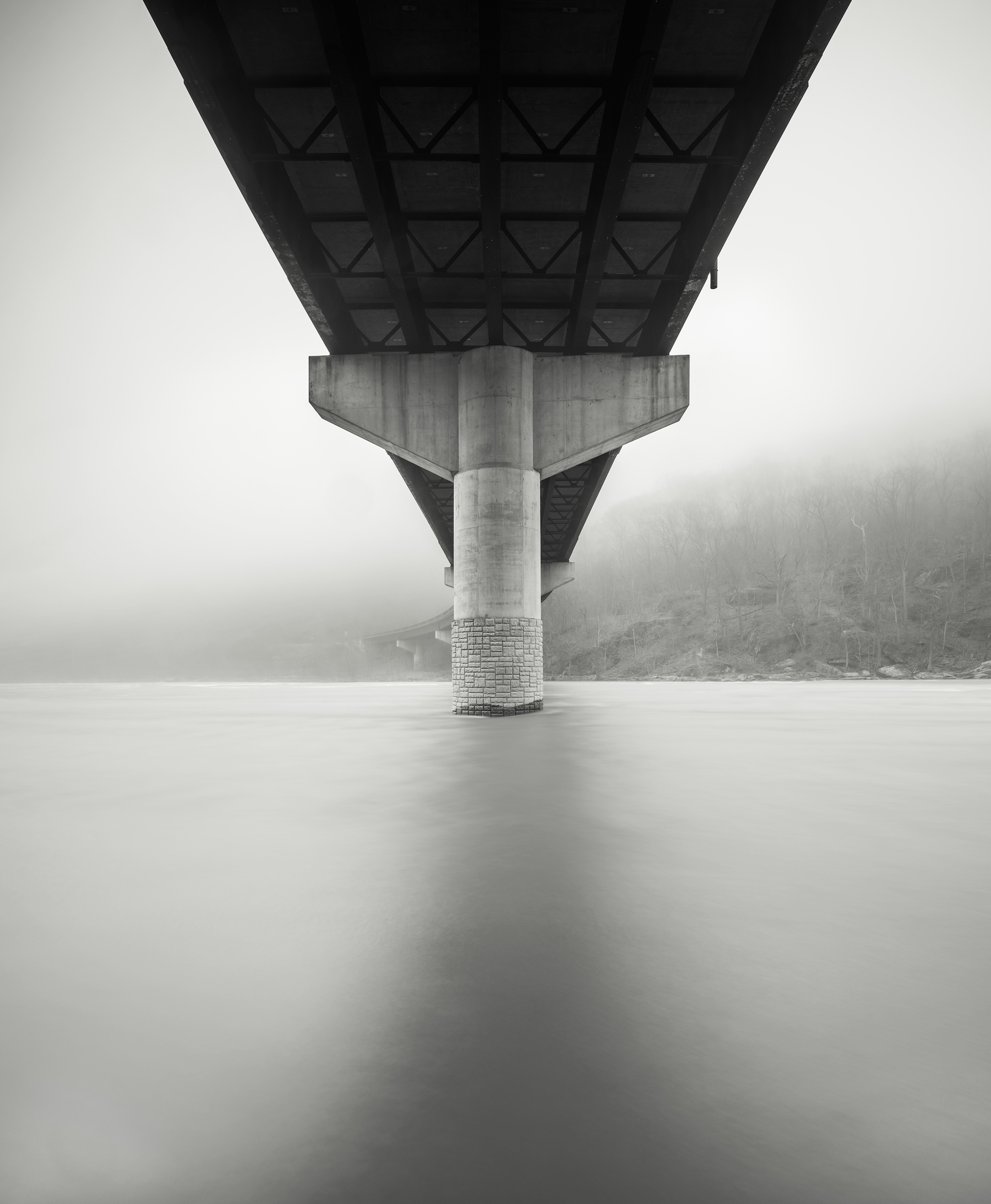 Bridge and Fog, Harpers Ferry, WV - Fuji GFX50s and a Fujinon GF32-64mm f4 R WR | ISO 100 at f11 for 120 seconds.