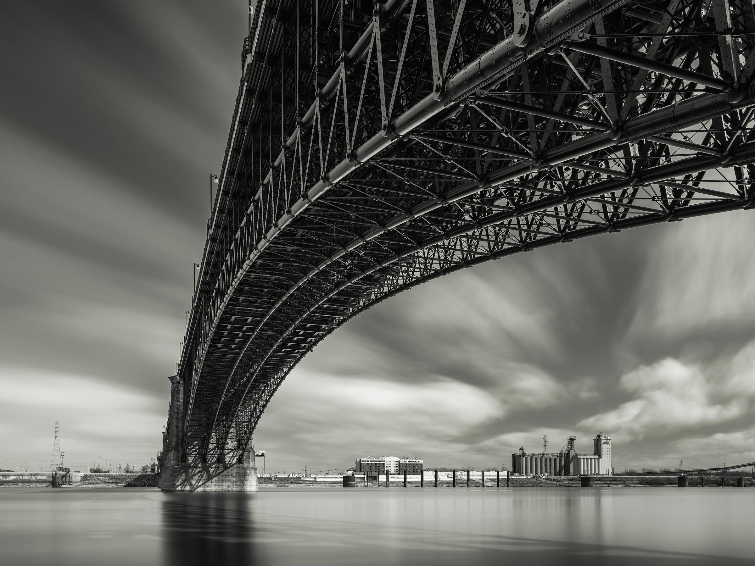 Eads Bridge, St Louis, MO - Fuji GFX50s and a Fujinon GF23mm f4 R WR   ISO 100 at f11 for 240 seconds.