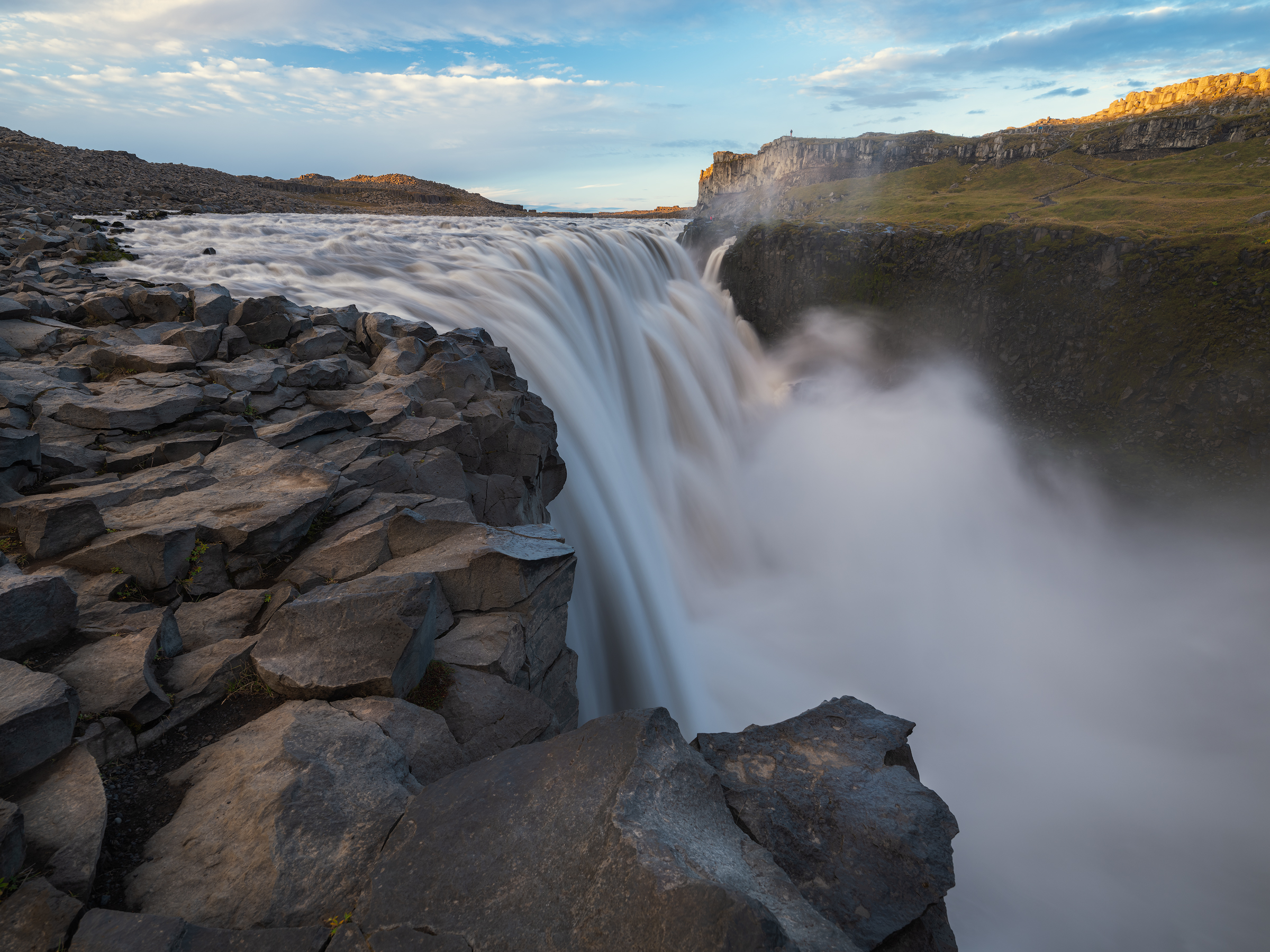 The incredible flow of Dettifoss.