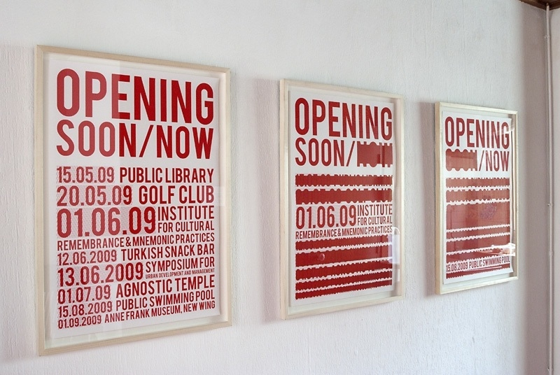 """Opening Soon, Opening Now"", Laurence Aëgerter"