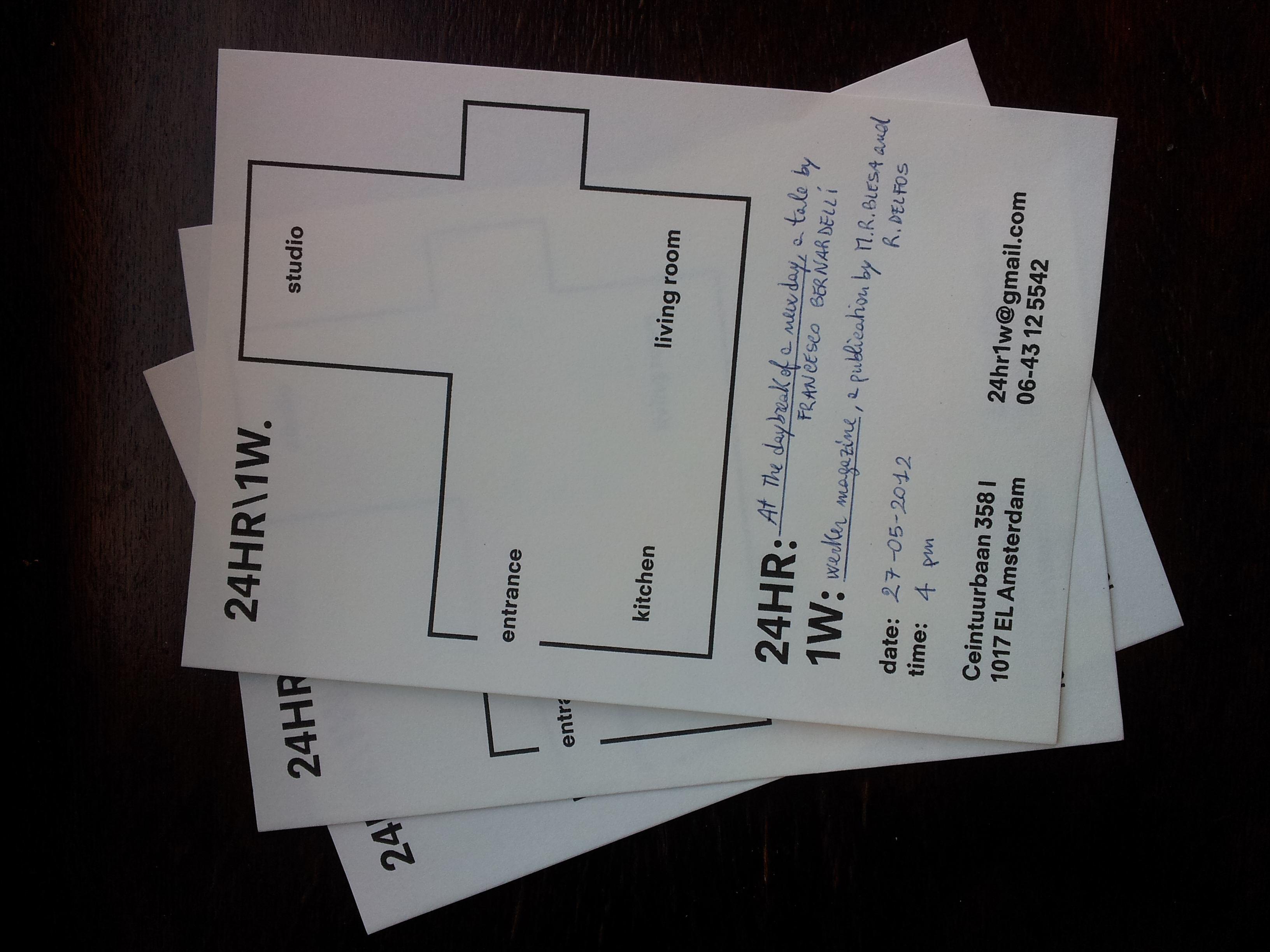 Invitation cards. Design by: Karen Willey