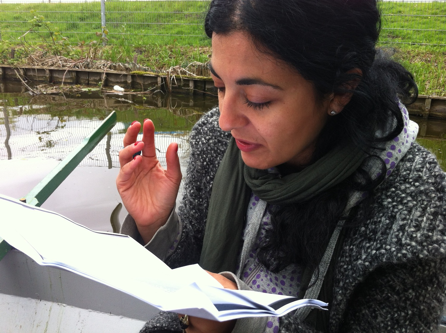 """Reading while Rowing"", session at  Westbroekpark"