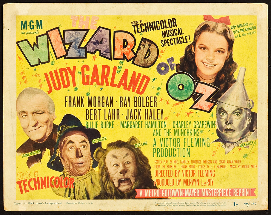 Vintage Wizard of Oz Classic Movie Poster Art Print Gift A0 A1 A2 A3 A4 Maxi