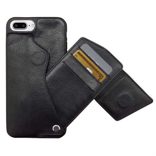 4b6eec329 black leather cell phone credit card case — MUSEUM OUTLETS