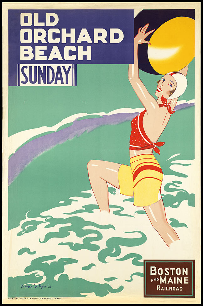 Old Orchard Beach Vintage Travel Poster