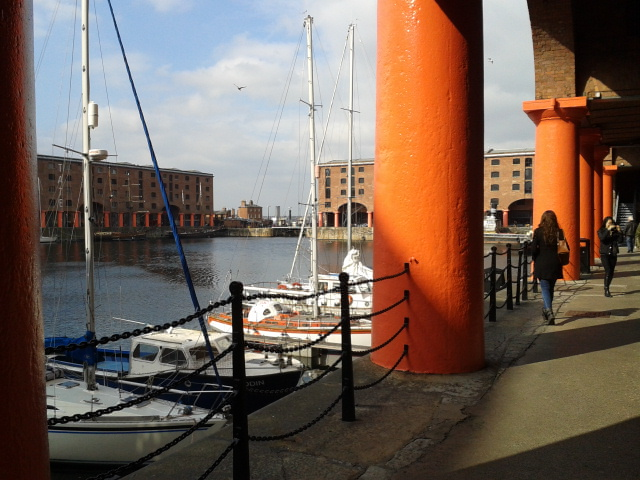 Albert Dock's Orange Columns, 2015.