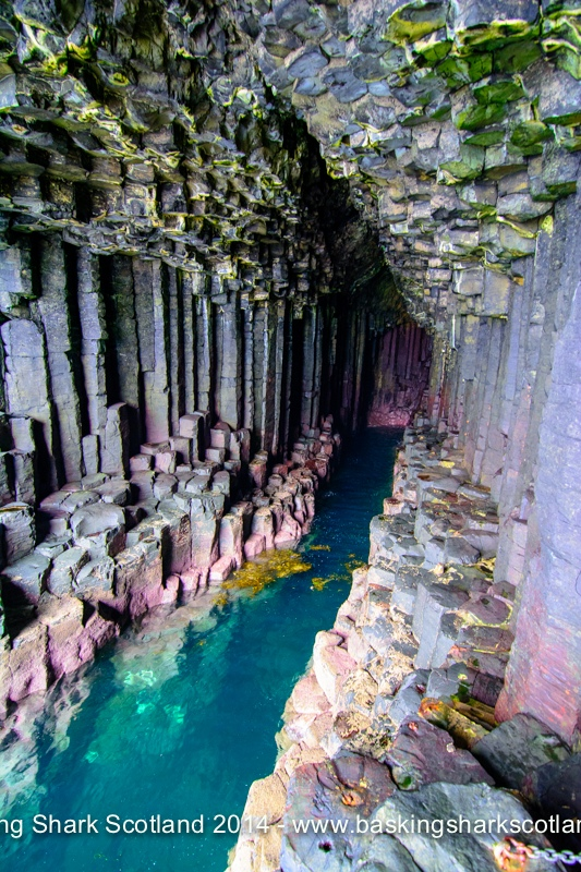 Unique rock formation of Fingal's Cave